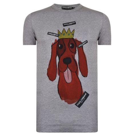 Dolce Gabbana Tişört Hound Gri #DolceGabbana #Tişört #DolceGabbanaTişört #Erkek #DolceGabbanaHound #Hound