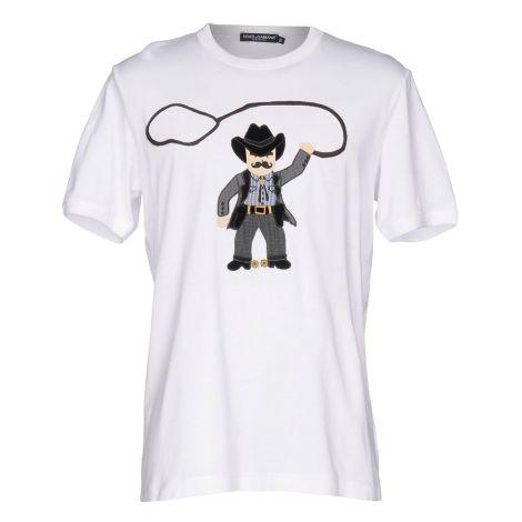 Dolce Gabbana Tişört Cowboy Beyaz #DolceGabbana #Tişört #DolceGabbanaTişört #Erkek #DolceGabbanaCowboy #Cowboy