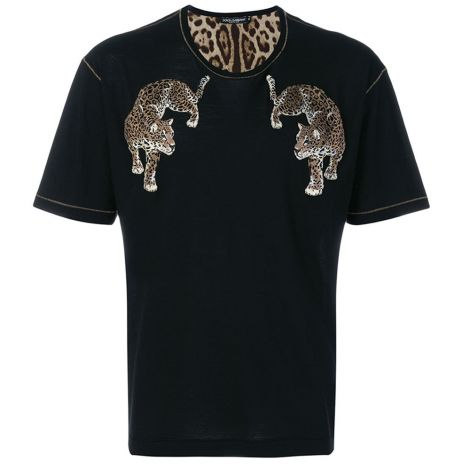 Dolce Gabbana Tişört Leopard Siyah #DolceGabbana #Tişört #DolceGabbanaTişört #Erkek #DolceGabbanaLeopard #Leopard