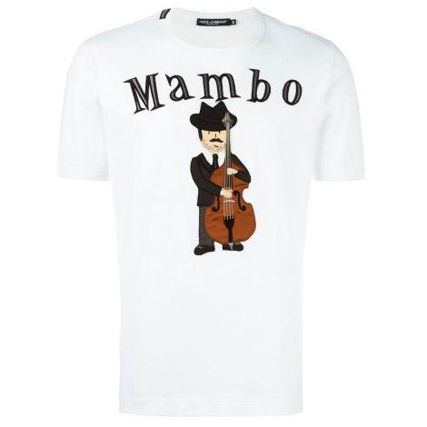 Dolce Gabbana Tişört Mambo Beyaz #DolceGabbana #Tişört #DolceGabbanaTişört #Erkek #DolceGabbanaMambo #Mambo
