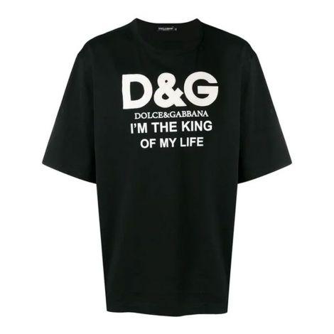 Dolce Gabbana Tişört King Siyah #DolceGabbana #Tişört #DolceGabbanaTişört #Erkek #DolceGabbanaKing #King