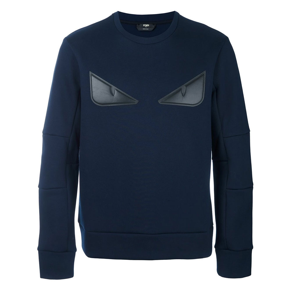 Fendi Bag Bugs Sweatshirt Lacivert - 2 #Fendi #FendiBagBugs #Sweatshirt