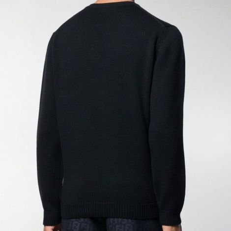 Fendi Sweatshirt Diabolic Siyah - Fendi Bag Bugs Logo Sweater Sari E19 Siyah