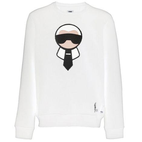 Fendi Sweatshirt Karlito Beyaz #Fendi #Sweatshirt #FendiSweatshirt #Erkek #FendiKarlito #Karlito