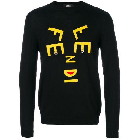 Fendi Sweatshirt Logo Siyah #Fendi #Sweatshirt #FendiSweatshirt #Erkek #FendiLogo #Logo