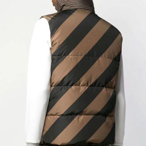 Fendi Yelek Gilet Kahverengi - Fendi Reversible Quilted Gilet Yelek Erkek Kahverengi