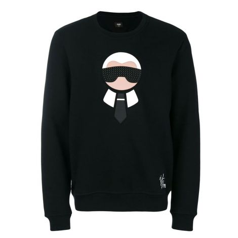 Fendi Sweatshirt Karlito Siyah #Fendi #Sweatshirt #FendiSweatshirt #Erkek #FendiKarlito #Karlito
