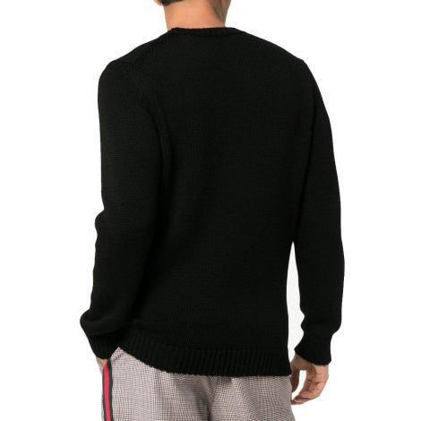 Fendi Kazak Logo Siyah - Fendi Sweatshirt Erkek Logo Beyaz Kazak Siyah