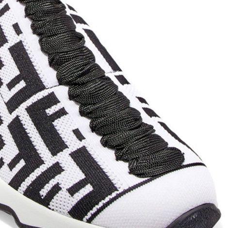 Fendi Ayakkabı Fabric Beyaz - Fendi Kadin Ayakkabi Logo Jacquard Stretch Knit And Mesh Beyaz