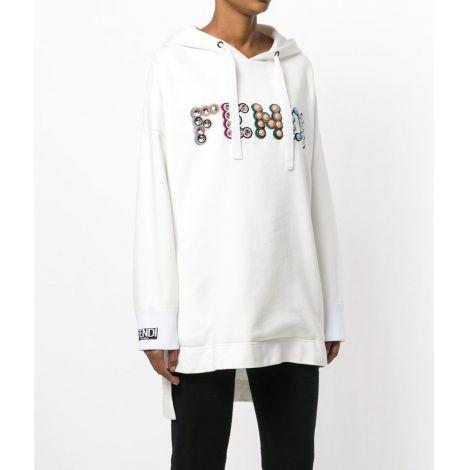 Fendi Sweatshirt Maxi Beyaz #Fendi #Sweatshirt #FendiSweatshirt #Kadın #FendiMaxi #Maxi