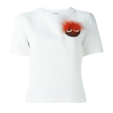 Fendi Tişört Tişört Karl Siyah #FendiTişört #Tişört #FendiTişörtTişört #Kadın #FendiTişörtKarl #Karl Fendi Bag Bugs Tisort Bayan Beyaz