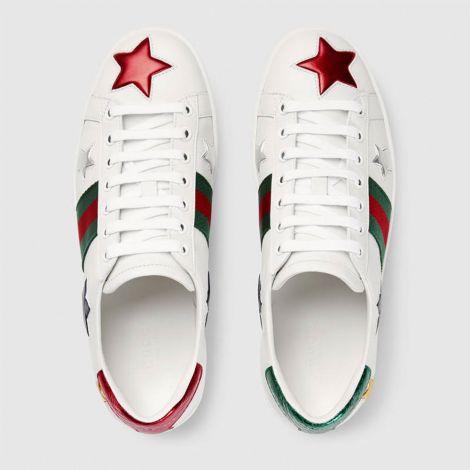 Gucci Ayakkabı Ace Star Beyaz #Gucci #Ayakkabı #GucciAyakkabı #Kadın #GucciAce Star #Ace Star