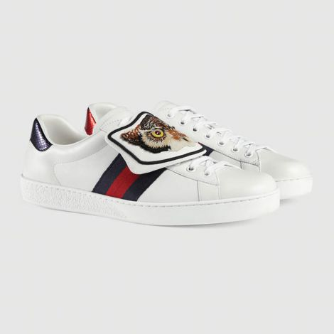 Gucci Ayakkabı Ace Owl Beyaz #Gucci #Ayakkabı #GucciAyakkabı #Erkek #GucciAce Owl #Ace Owl