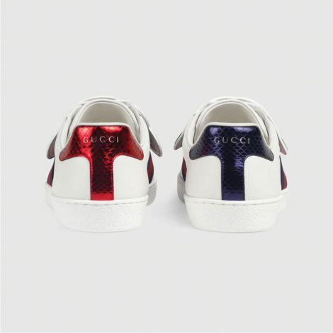 Gucci Ayakkabı Ace BFL Beyaz - Gucci Ace Sneaker With Removable Patches Blind For Love Beyaz