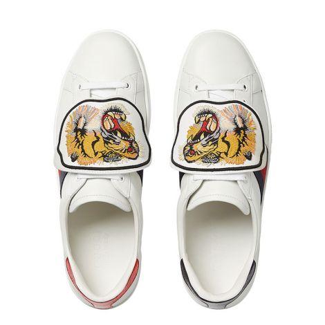 Gucci Ayakkabı Ace Patch Beyaz #Gucci #Ayakkabı #GucciAyakkabı #Erkek #GucciAce Patch #Ace Patch
