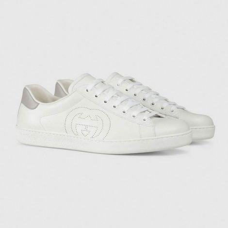 Gucci Ayakkabı Interlocking Beyaz - Gucci Ayakkabi 2020 Erkek Mens Ace Sneaker Grey Interlocking G Beyaz