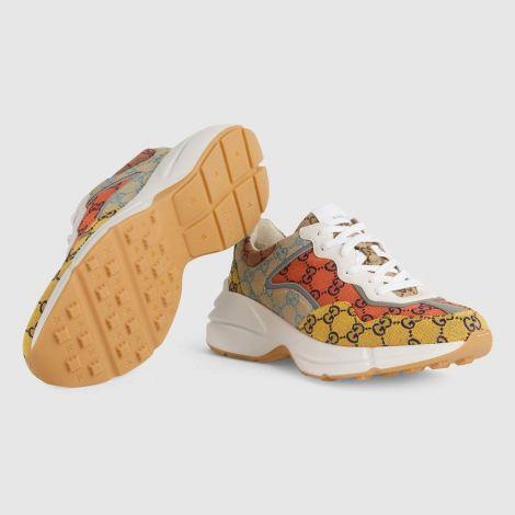 Gucci Ayakkabı Rhyton Renkli - Gucci Ayakkabi 2021 Low Top Sneakers For Mens Rhyton Gg Multicolor Renkli