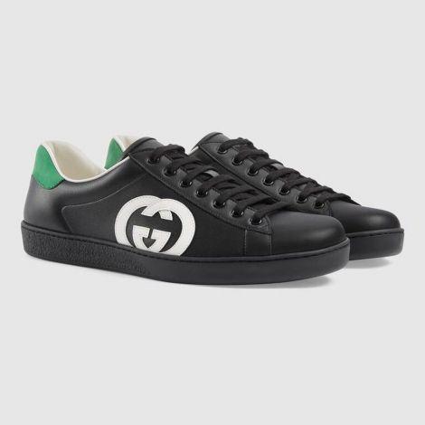Gucci Ayakkabı Interlocking Siyah - Gucci Ayakkabi 2021 Mens Ace Sneaker With Interlocking G Siyah