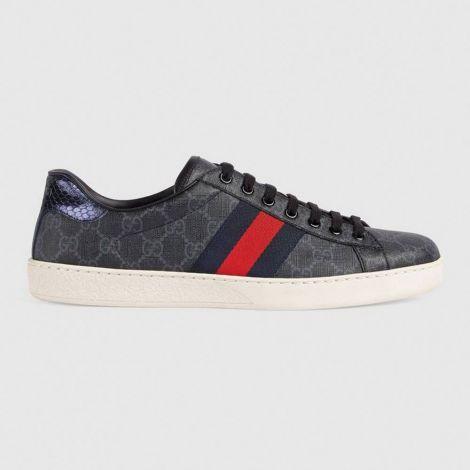 Gucci Ayakkabı Supreme Siyah - Gucci Ayakkabi Erkek 2020 Ace Gg Supreme Sneaker Siyah
