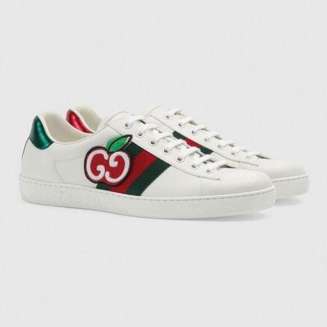 Gucci Ayakkabı Apple Beyaz - Gucci Ayakkabi Erkek 2020 Mens Ace Sneaker With Gg Apple Beyaz