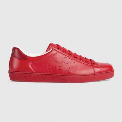 Gucci Ayakkabı Interlocking Kırmızı - Gucci Ayakkabi Erkek 2020 Mens Ace Sneaker With Interlocking G Kirmizi