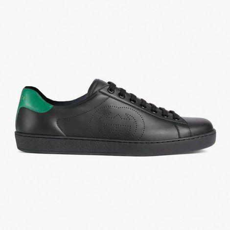 Gucci Ayakkabı Interlocking Siyah - Gucci Ayakkabi Erkek 2020 Mens Ace Sneaker With Interlocking G Siyah Yesil
