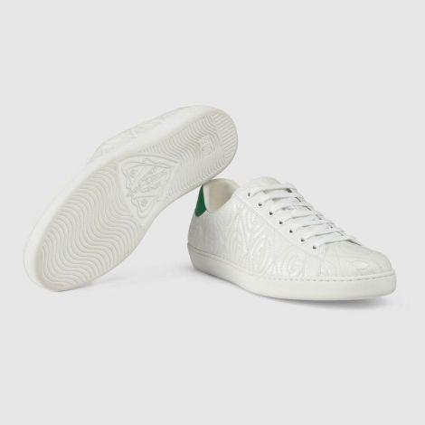 Gucci Ayakkabı Ace Rhombus Beyaz - Gucci Ayakkabi Erkek 21 Ace G Rhombus Sneaker Beyaz