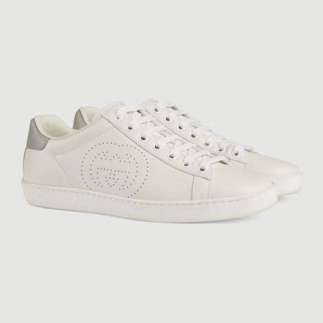 Gucci Ayakkabı Interlocking Beyaz - Gucci Ayakkabi Kadin 2020 Ace Sneaker With Interlocking G Beyaz