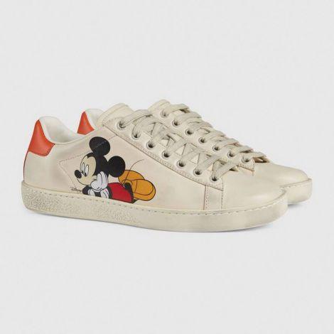 Gucci Ayakkabı Disney Beyaz - Gucci Ayakkabi Kadin 2020 Disney X Gucci Ace Sneaker Beyaz