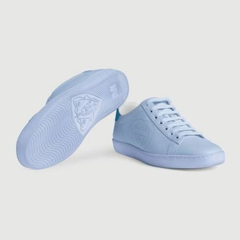 Gucci Ayakkabı Interlocking Mavi - Gucci Ayakkabi Kadin 21 Ace Sneaker With Interlocking G Mavi