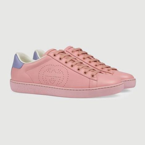 Gucci Ayakkabı Interlocking Pembe - Gucci Ayakkabi Kadin 21 Ace Sneaker With Interlocking G Pembe
