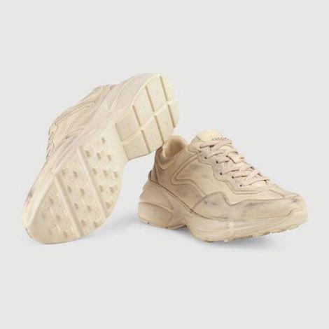 Gucci Ayakkabı Rhyton Leather Beyaz - Gucci Ayakkabi Kadin 21 Rhyton Leather Sneaker Beyaz
