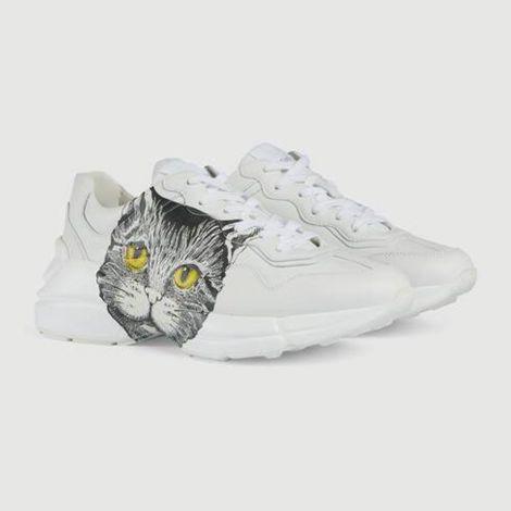 Gucci Ayakkabı Rhyton Mystic Beyaz - Gucci Ayakkabi Kadin 21 Rhyton Sneaker With Mystic Cat Beyaz