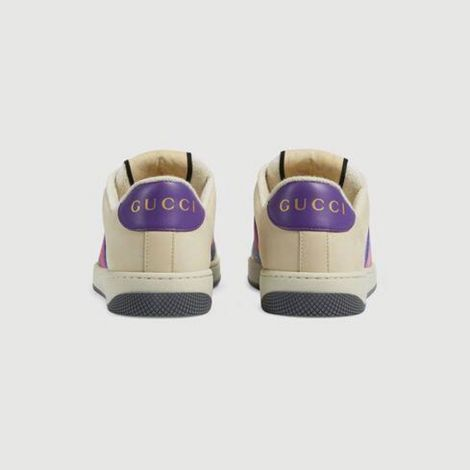 Gucci Ayakkabı Screener Mavi - Gucci Ayakkabi Kadin 21 Screener Sneaker With Web Blue Gg Lame Mavi
