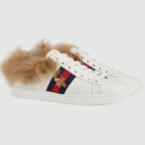 Gucci Ayakkabı Ace Bee Beyaz - Gucci Ayakkabi Modelleri Kadin Ace Sneaker Bee Beyaz