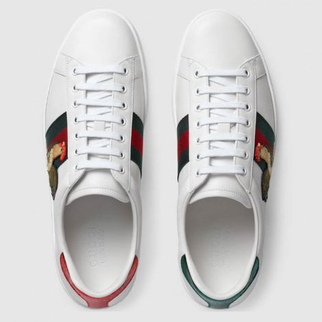 Gucci Ayakkabı Ace NewYear Beyaz - Gucci Chinese New Year Ace Low Top Sneaker