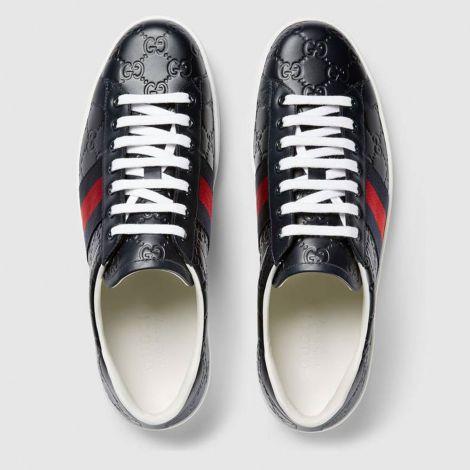 Gucci Ayakkabı Ace Signature Lacivert #Gucci #Ayakkabı #GucciAyakkabı #Erkek #GucciAce Signature #Ace Signature