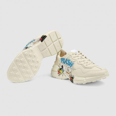 Gucci Ayakkabı Rhyton Donald Duck Beyaz - Gucci Erkek Ayakkabi Mens Disney X Gucci Donald Duck Rhyton Sneaker Beyaz
