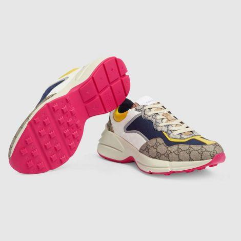 Gucci Ayakkabı Rhyton Renkli - Gucci Erkek Ayakkabi Mens Gg Rhyton Sneaker Ayakkabi Pembe Renkli