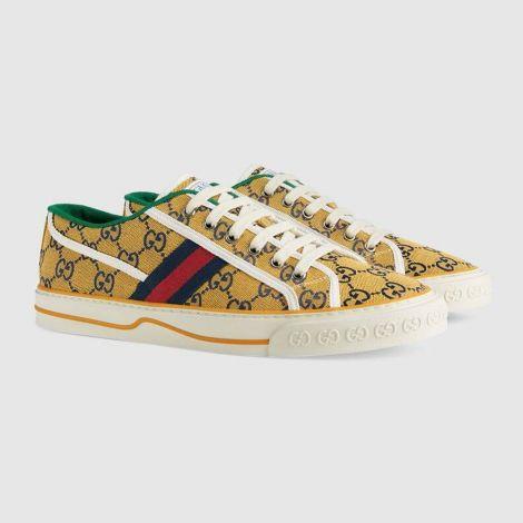 Gucci Ayakkabı Tennis 1977 Sarı - Gucci Erkek Ayakkabi Mens Gucci Tennis 1977 Gg Multicolor Sneaker Sari