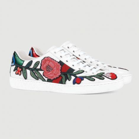 Gucci Ayakkabı Ace Rose Beyaz #Gucci #Ayakkabı #GucciAyakkabı #Kadın #GucciAce Rose #Ace Rose
