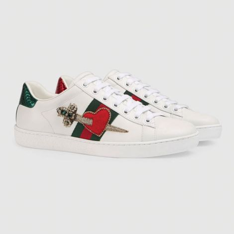 Gucci Ayakkabı Ace Heart Beyaz #Gucci #Ayakkabı #GucciAyakkabı #Kadın #GucciAce Heart #Ace Heart