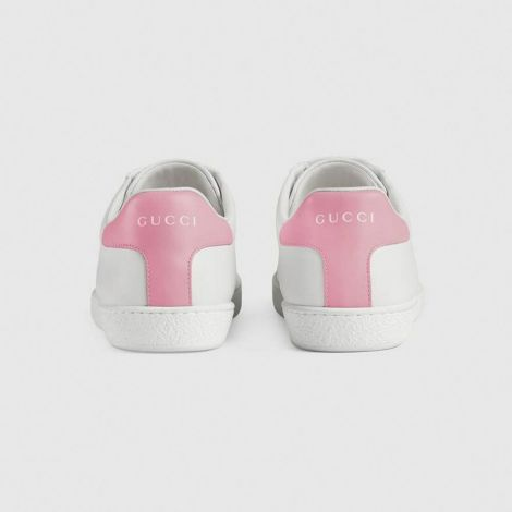 Gucci Ayakkabı Interlocking Beyaz - Gucci Kadin Ayakkabi 2020 Ace Sneaker Interlocking G Pembe Beyaz