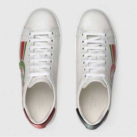Gucci Ayakkabı Interlocking Beyaz - Gucci Kadin Ayakkabi 2020 Ace Sneaker Red Interlocking G Beyaz