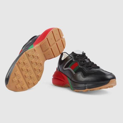 Gucci Ayakkabı Rhyton Siyah - Gucci Men Shoes Low Top Sneakers For Mens Rhyton Sneaker Siyah