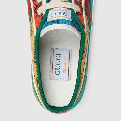 Gucci Ayakkabı Tennis 1977 Renkli - Gucci Sneaker Ayakkabi Low Top Tennis 1977 Gg Multicolor Sneaker Renkli