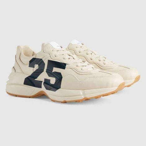 Gucci Ayakkabı Rhyton 25 Beyaz - Gucci Sneaker Ayakkabi Mens Rhyton Sneaker With 25 White Beyaz