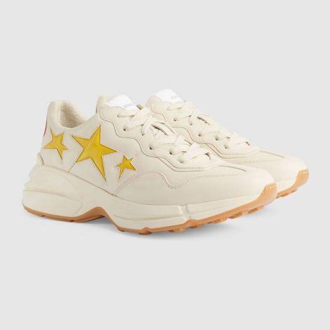 Gucci Ayakkabı Rhyton Beyaz - Gucci Sneaker Ayakkabi Mens Rhyton Sneaker With Stars Beyaz