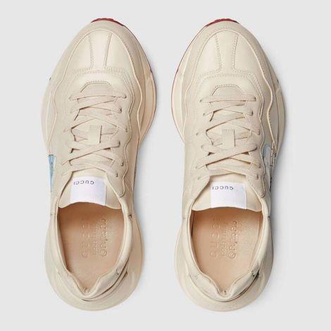 Gucci Ayakkabı Rhyton Doraemon Beyaz - Gucci Sneakers Ayakkabi Doraemon X Gucci Mens Rhyton Sneaker Red Beyaz