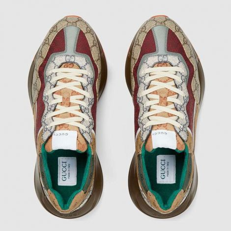 Gucci Ayakkabı Rhyton Renkli - Gucci Sneakers Ayakkabi Mens Gg Rhyton Sneaker Turuncu Renkli